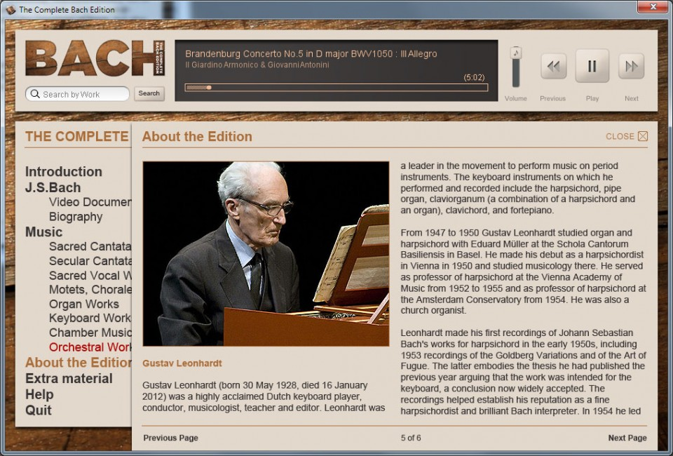Read the biographies of the people behind the project and watch the documentary about Bach's life